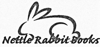 Rabbit line illustration with noneditable company name pencil effect